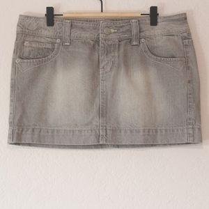 SO Gray Denim Skirt